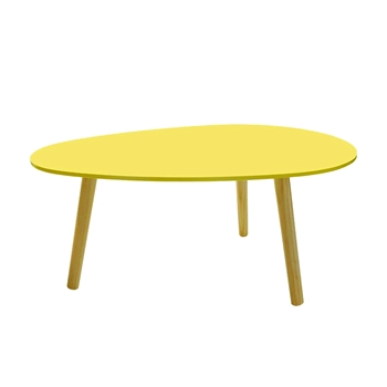 Yellow XXMS waterDrop-shaped coffee table 900*600*385